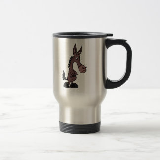 XX- Stubborn Mule or Donky Cartoon Travel Mug