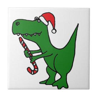 XX- T-Rex Dinosaur Christmas Cartoon Ceramic Tiles