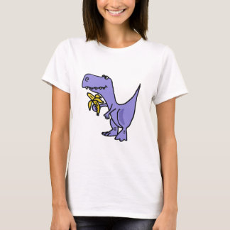 XX- T-Rex Dinosaur Eating Banana Cartoon T-Shirt