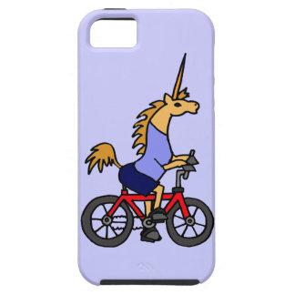 XX- Unicorn Riding Bicycle Cartoon iPhone 5 Cover
