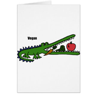 XX- Vegan Crocodile Card