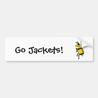 XX- Yellow Jacket Football Designs Bumper Stickers