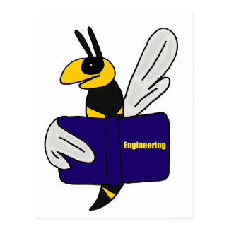 XX- Yellow Jacket Reading Engineering Book Postcard