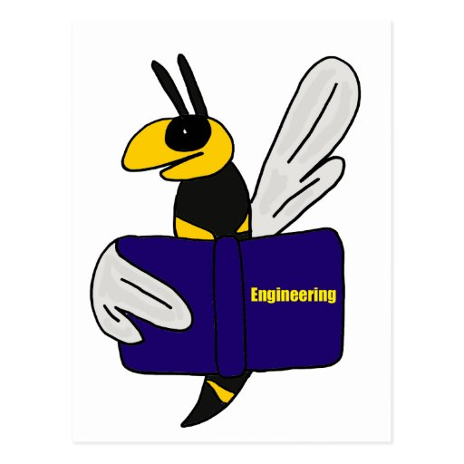 XX- Yellow Jacket Reading Engineering Book Post Card