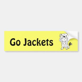 XX- Yellow Jacket Stinging Bulldog Cartoon Bumper Sticker