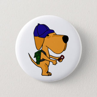 XX- Yellow Labrador Dog Back to School Cartoon 6 Cm Round Badge