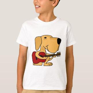 XX- Yellow Labrador Retriever Playing Guitar T-shirt
