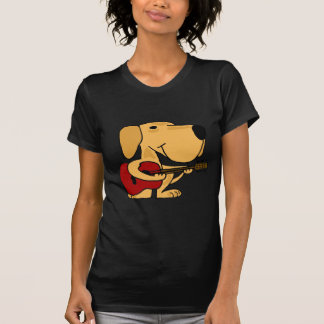 XX- Yellow Labrador Retriever Playing Guitar T-Shirt