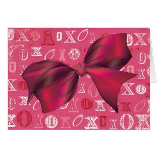 XXOO Bows & Roses Matching Set Greeting Card