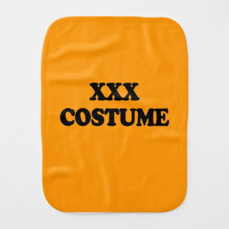XXX COSTUME - - Halloween Burp Cloth