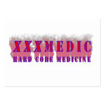 XXX Medic Red text with red smoke Business Card Template