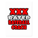 XXX Rated Baseball Coach Post Cards