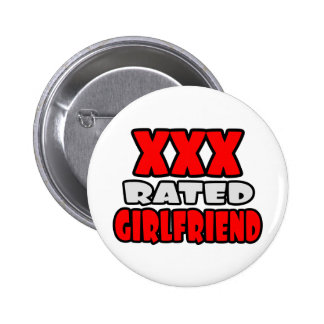 XXX Rated Girlfriend 6 Cm Round Badge