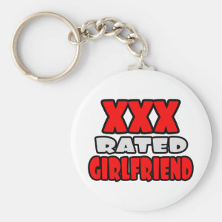 XXX Rated Girlfriend Basic Round Button Key Ring