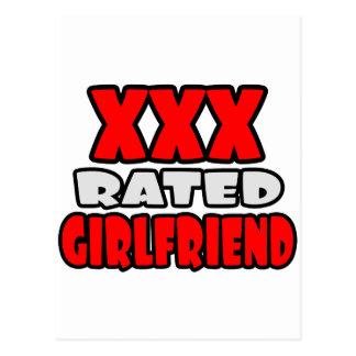 XXX Rated Girlfriend Postcard