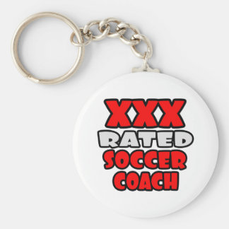 XXX Rated Soccer Coach Basic Round Button Key Ring
