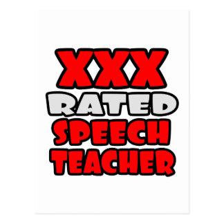 XXX Rated Speech Teacher Postcard