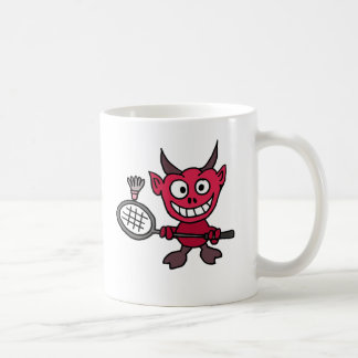 XY- Devil Playing BADminton Cartoon Coffee Mug