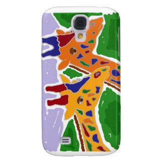 XY- Folk Art Giraffe Design Galaxy S4 Case