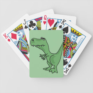 XY- Funny Green T-Rex Dinosaur Design Bicycle Playing Cards