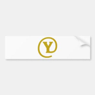 Y-at Bumper Sticker