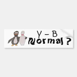 Y - B, Normal ? Car Bumper Sticker