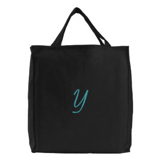 """Y"" / by: Opal01 Embroidered Tote Bag"