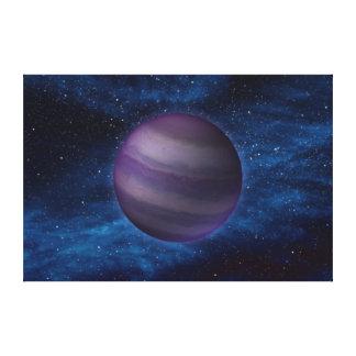 Y Dwarf Star Space Art Stretched Canvas Print