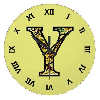 Y Illuminated Monogram Clock