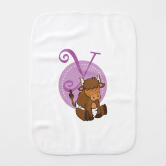 Y is for Yak Burp Cloth