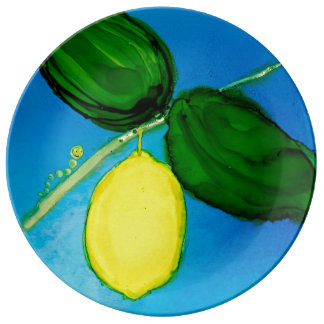 Y is for Yellow Designer Plate