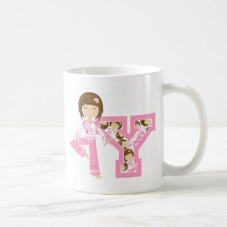 Y is for Yoga Girl Basic White Mug