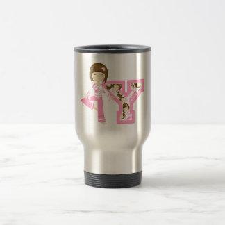 Y is for Yoga Girl Coffee Mug