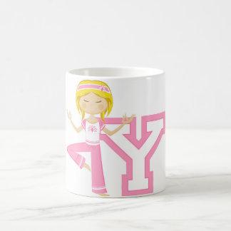 Y is for Yoga Girl Coffee Mugs