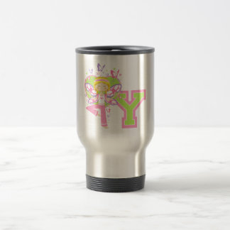 Y is for Yoga Girl Stainless Steel Travel Mug