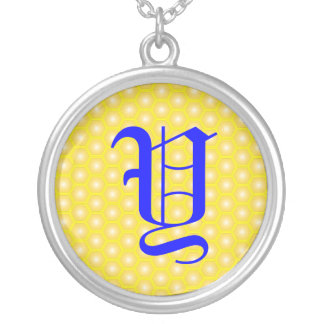 Y LETTER ON HONEYCOMB CUSTOM JEWELRY