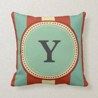 'Y' Monogram Cushion