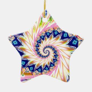 Y Spiral 2 Ceramic Star Decoration