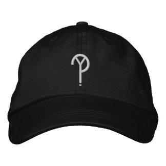 Y?- Symbol Hat- Black (Colors Are Changeable) Embroidered Baseball Caps
