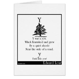Y was a yew greeting card