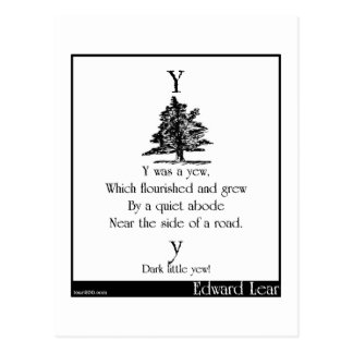 Y was a yew postcard