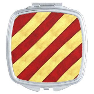 Y Yankee Watercolor Nautical Signal Maritime Flag Mirrors For Makeup
