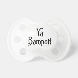 Ya Bampot Funny Scottish Slang Saying Pacifiers