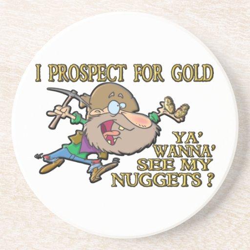 Ya' Wanna' See My Nuggets ? Beverage Coasters