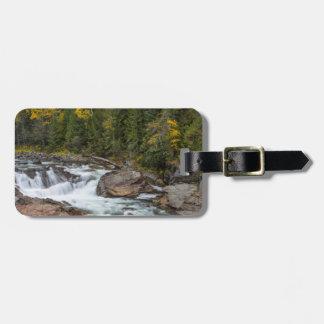 Yaak Falls In Autumn In The Kootenai National Luggage Tag