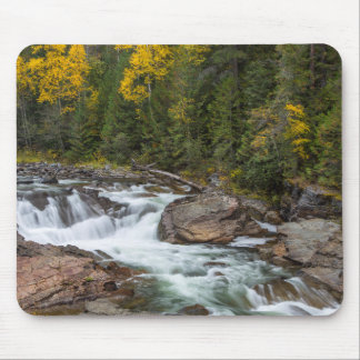 Yaak Falls In Autumn In The Kootenai National Mouse Pad