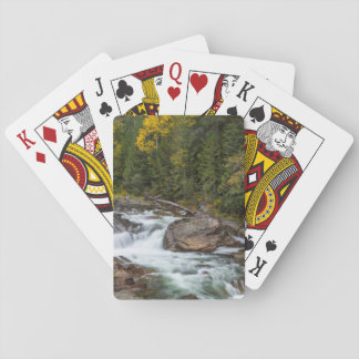 Yaak Falls In Autumn In The Kootenai National Playing Cards