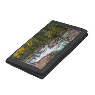 Yaak Falls In Autumn In The Kootenai National Trifold Wallet
