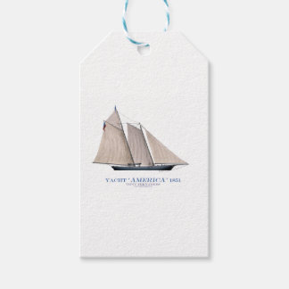 yacht america 1851 gift tags