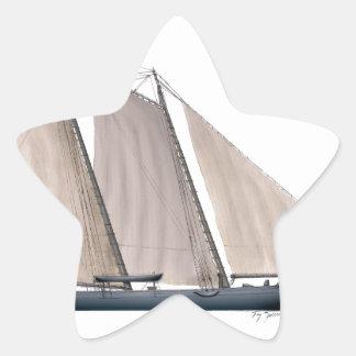 yacht america 1851 star sticker